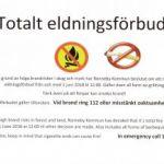 Totalt eldningsförbud