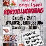 Korvtillverkning i Byahuset den 24 november 2018
