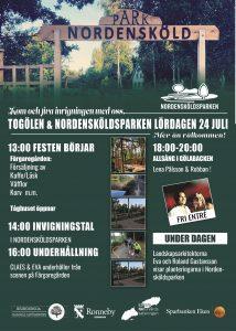 Invigning Togölen Nordensköldsparken